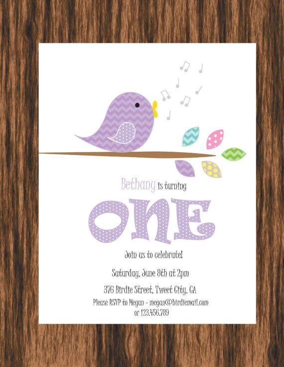 Singing Bird Birthday Party DIY Printable Invitation