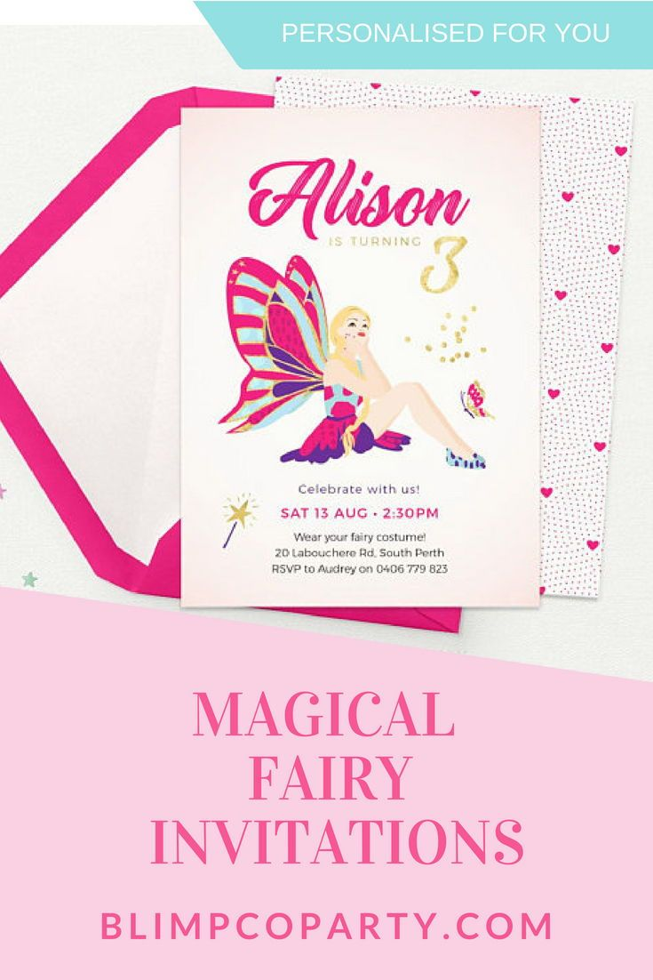 Fairy Invitations Editable Template 3rd Birthday Invites First Pink Party Printable Kids In 2019