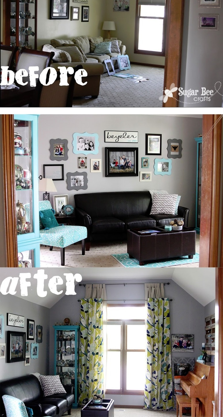 living room revamp aqua turquoise and gray projects 70564