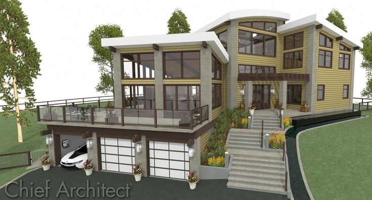 Chief Architect Home Design Software Sample Gallery Exterior Building Treatments Pinterest