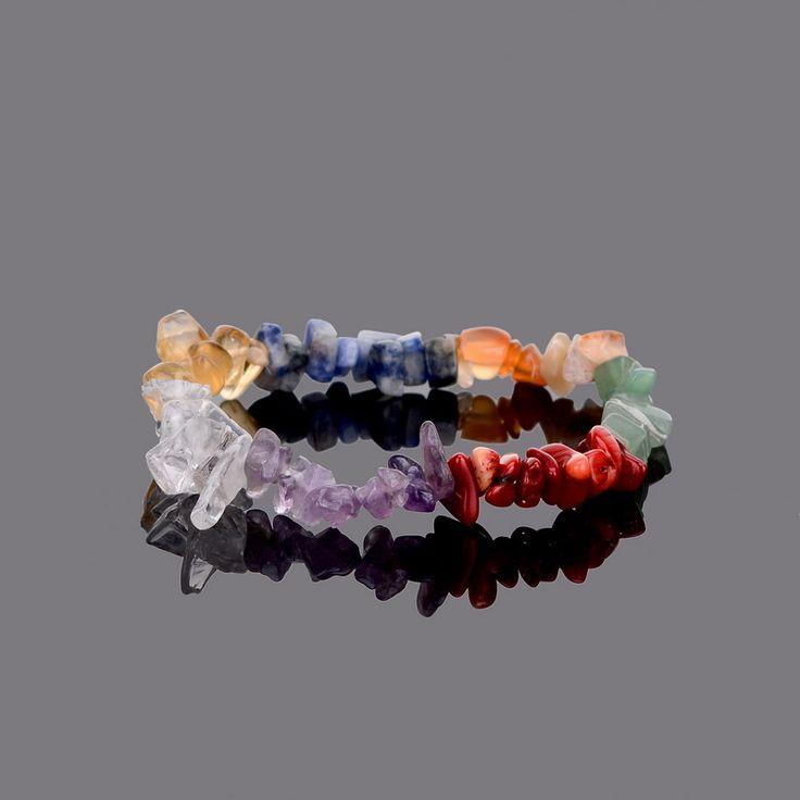 Bracelets  en pierre naturelle Multicolor Améthyste Jasper Agate Lazuli Reiki -Bracelets 7 #Chakra guérison .Fermoir en Alliage de zinc