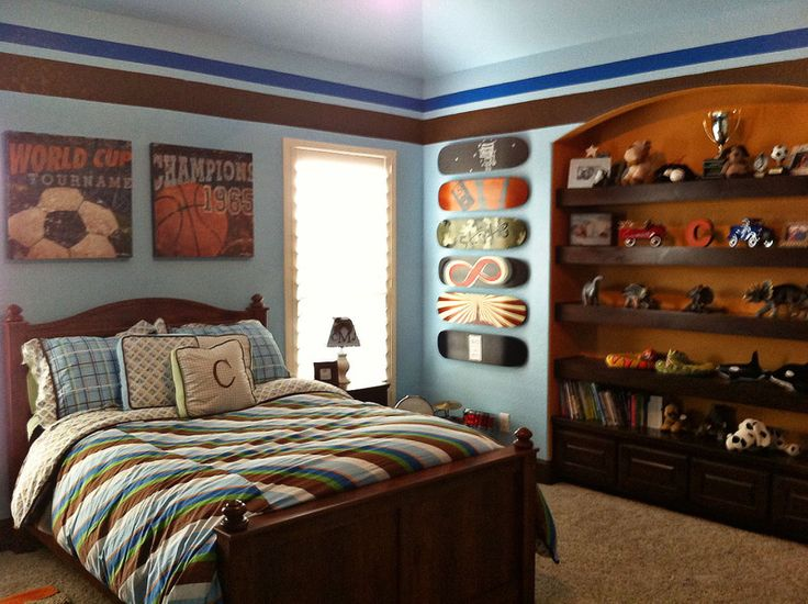 Best Boys Sports Theme Bedroom Ideas Images On Pinterest - Boys room paint ideas stripes sports