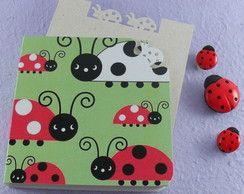 Ladybugs notepad Green