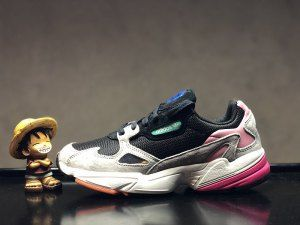 Mens Womens Adidas Falcon WMNS Core Black Light Graphite BB9173 Sneakers 205bab3fa
