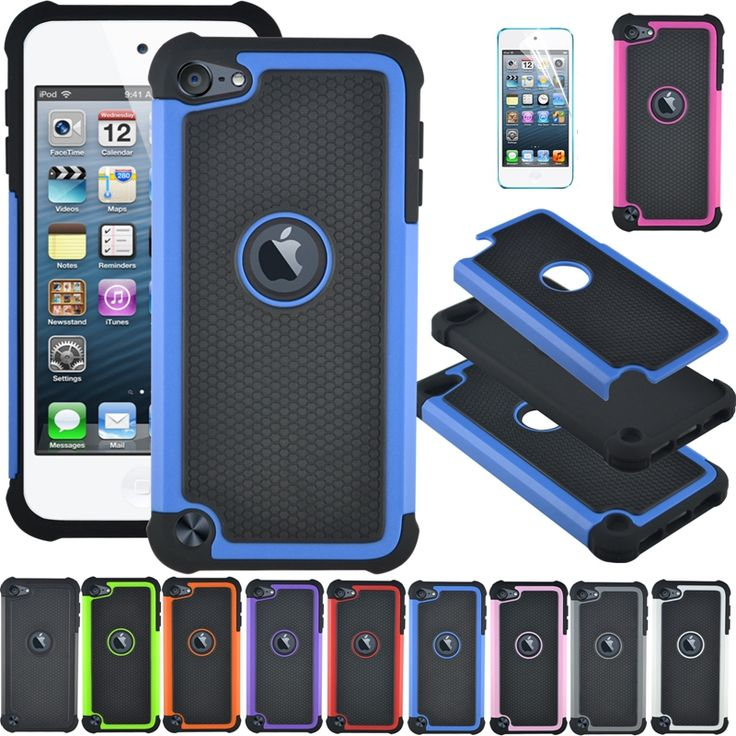Shockproof 3 in1 Hybrid Rugged Impact Silicone Hard Back Cover Case For Apple iPod Touch 5 Durable Defender Cases + Screen Film #clothing,#shoes,#jewelry,#women,#men,#hats,#watches,#belts,#fashion,#style