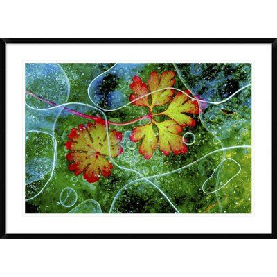 """Global Gallery 'Thaw' by Andres Miguel Dominguez Framed Graphic Art Size: 30"""" H x 42"""" W x 1.5"""" D"""