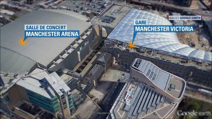 Une explosion a fait au moins 22 morts et 60 blessés ce lundi soir à l'issue d'un concert d'Ariana Grande dans la salle Arena à Manchester, dans le nord-ouest de l'Angleterre. Rapidement, la panique a gagné la foule et le quartier a été entièrement bouclé.