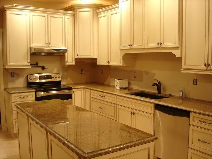 Vanilla bean glaze kitchen cabinets home for 7 x 9 kitchen cabinets