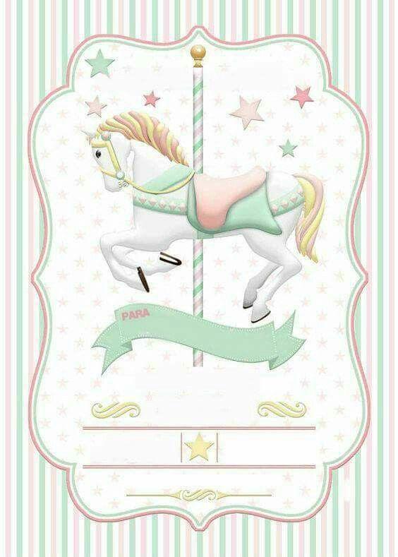 Carrocel cavalo convite
