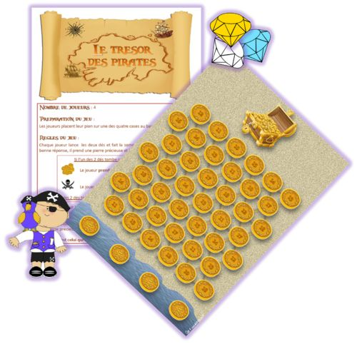 Piratenspel, free printable