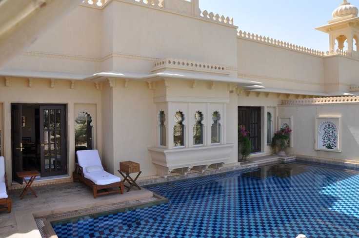 Private pool at the Oberoi Udaivilas in Udaipur, India
