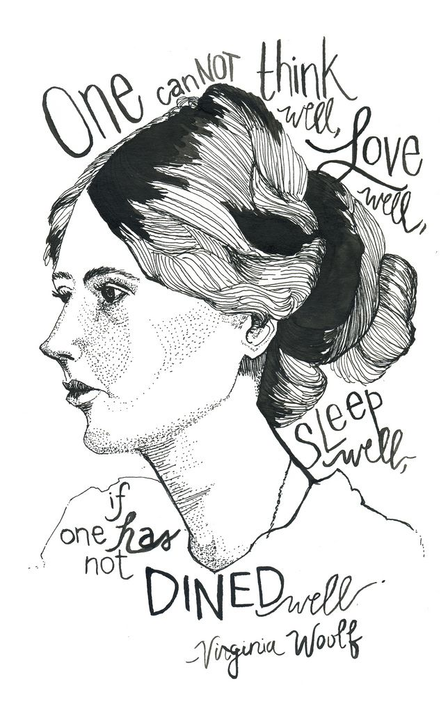 Here's to a good meal and Virginia Woolf.