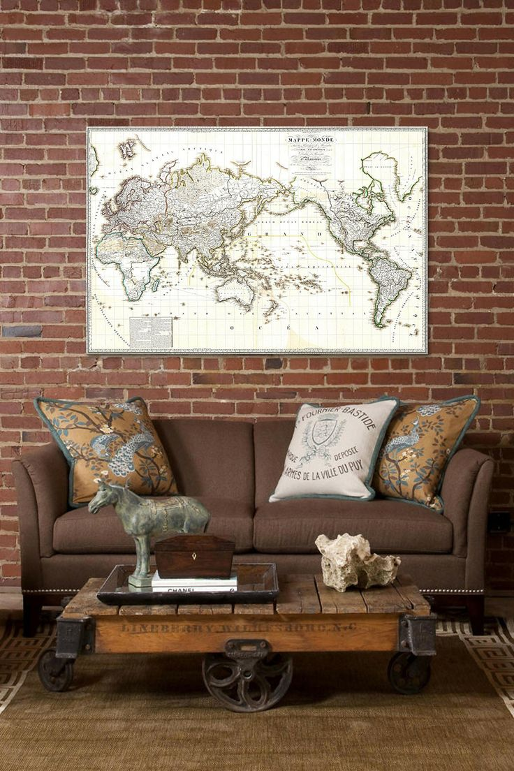 World Map Of Morocco%0A Antique French Map of the World