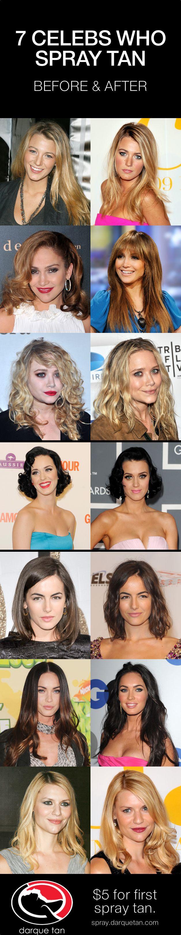 7 celebs who spray tan. #mystictan #spraytan #darquetan