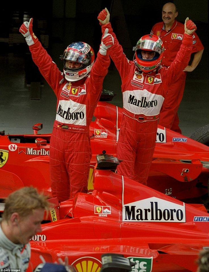 1999 Malaysian Grand Prix - Michael Schumacher & Eddie Irvine (Ferrari) [962x1249]