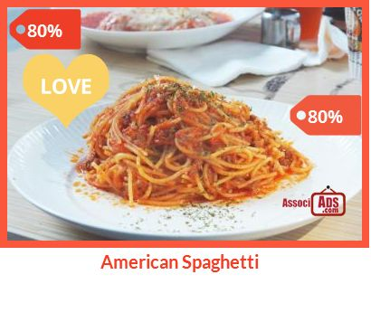 Enjoy American Spaghetti at Charlie Brown Cafe Check out at http://associads.com/American-Spaghetti_jh16whr