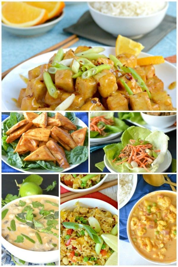 These Vegan Asian-Inspired Recipes are perfect for entertaining or any night of the week. They are vegan, gluten-free, and healthier than most dishes you'll find at restaurants. They may not be entirely authentic, but they are all very delicious and easy to make! #vegan #glutenfree #asian #stirfry via @VeggiesSave