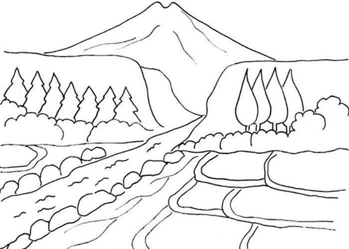 Terkeren 30 Lukisan Pemandangan Untuk Diwarnai Gambar Pemandangan Hitam Putih Untuk Mewarnai Gambar Mewarnai Download 1 Di 2020 Gambar Pemandangan Cara Menggambar