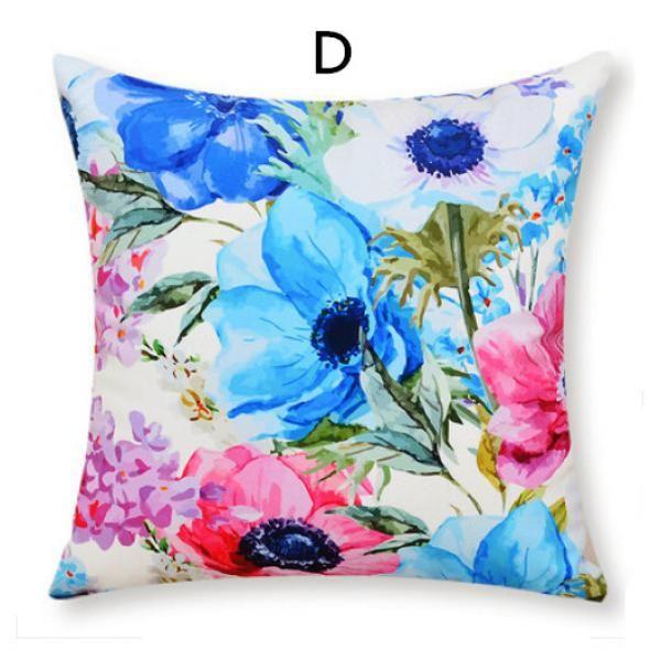 3D flowers sofa cushions pastoral style cheap decorative pillows soft