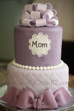 Mom's Bday cake on Pinterest | Birthday Cakes, Elegant Birthday ...