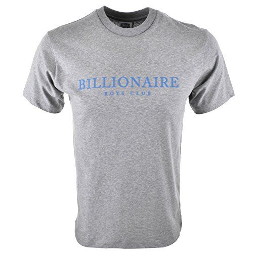 Black Obsidian Mens Billionaire Boys Club Monaco Flock T Shirt Grey - X Large Billionaire Boys Club Monaco Flock Logo Short Sleeved Crew Neck T Shirt In Heather Grey, A classic t shirt design with a ribbed crew neckline and short sleevesandlt