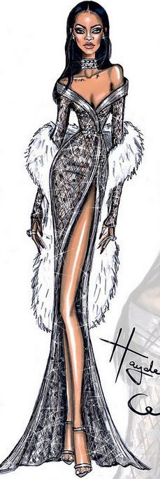 Fashion Illustration by Hayden Williams for Rihanna                                                                                                                                                     More