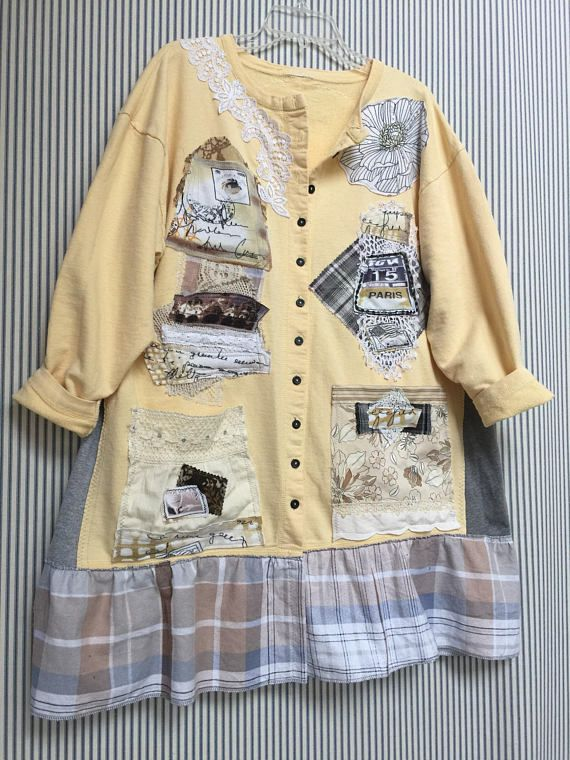 df8db6d67d3d Upcycled Artsy Jacket Shabby Chic Paris Romantic Cotton | Shabby chic  Upcycled Refashioned clothes | Pinterest | Artsy, Shabby and Romantic