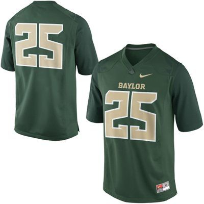 Nike Baylor Bears #25 Game Football Jersey - Green