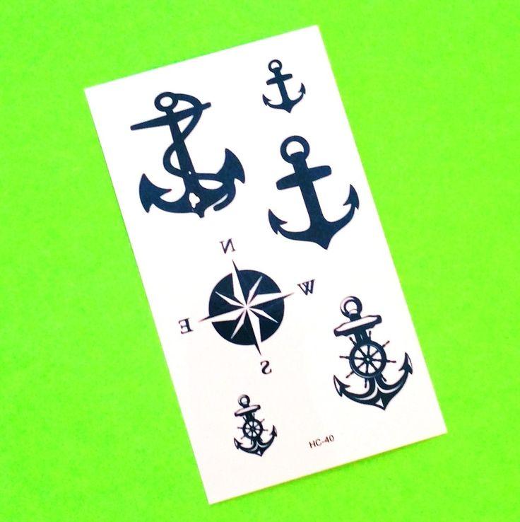 Anchor Mix Temporary Tattoo
