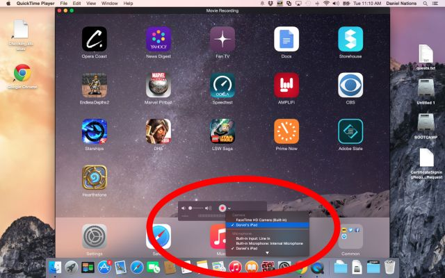 Record Your iPad Screen to Your Mac