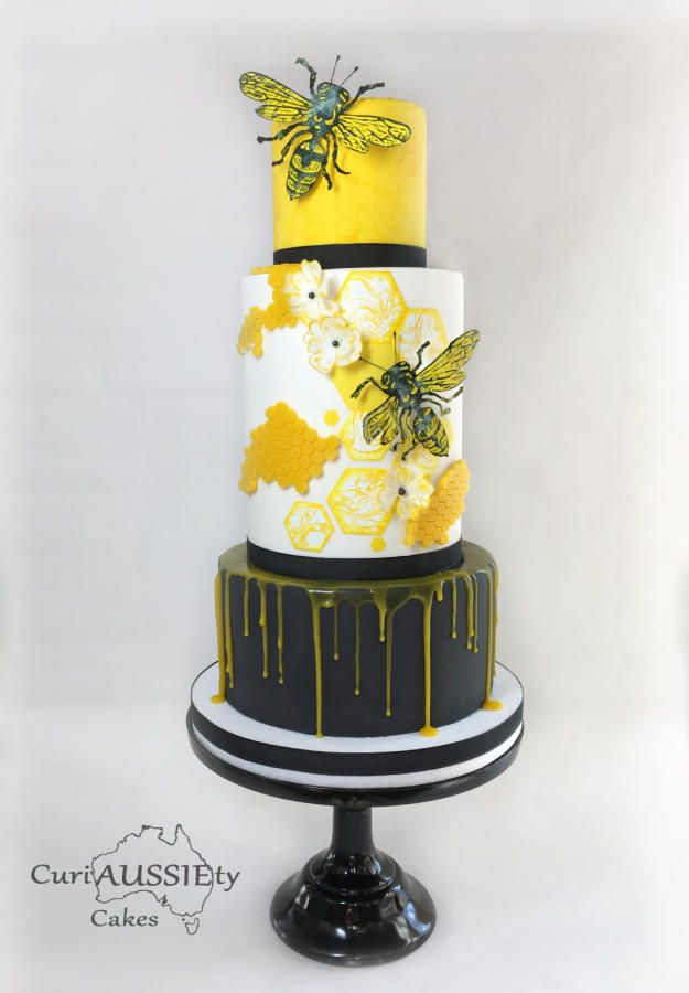 Honey Bee cake by curiAUSSIEty custom cakes