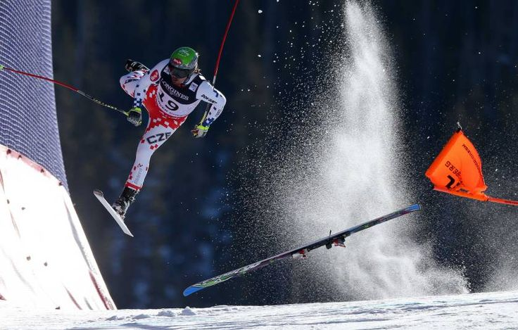 Sports, 1st prize singles. Czech Republic's Ondrej Bank crashes during the downhill race of the Alpine Combined at the FIS World Championships in Beaver Creek, Colorado, USA, on Feb. 15, 2015.