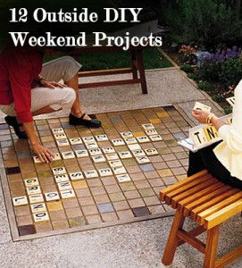 Outside DIY weekend projects - Fun ideas!