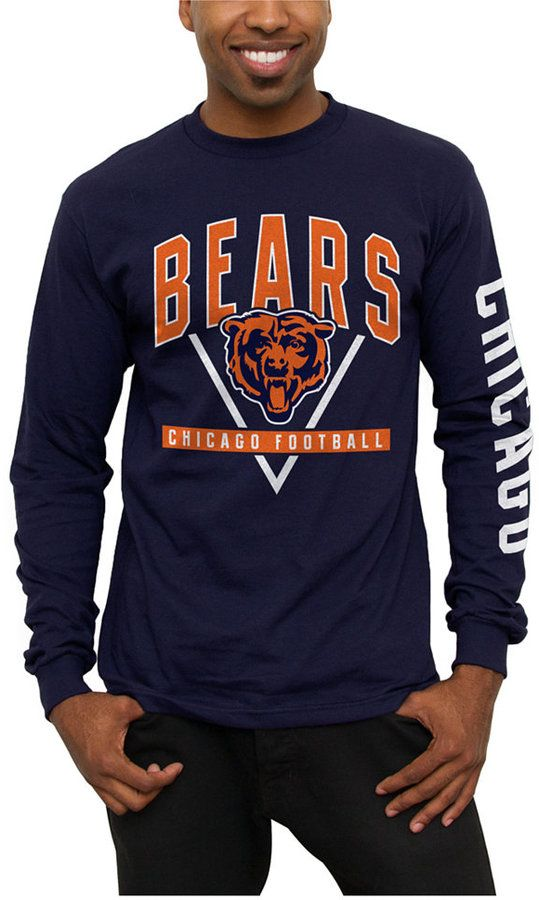 ... Authentic Nfl Apparel Mens Chicago Bears Nickel Formation Long Sleeve T-  Shirt ... e0012856a