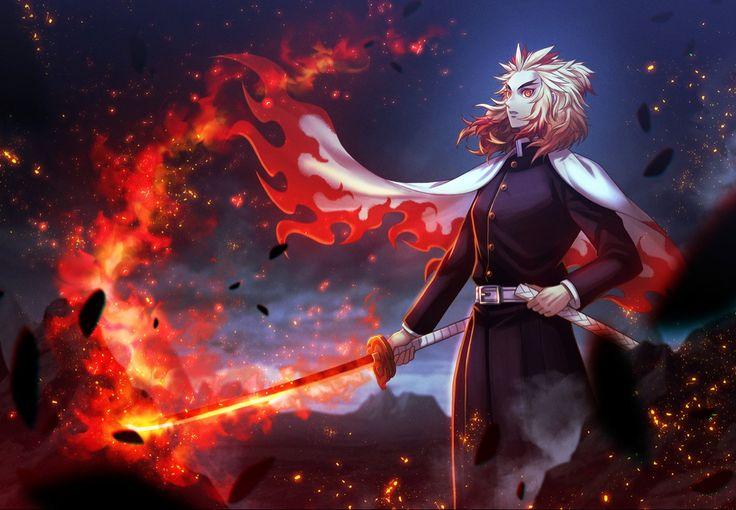 Tons of awesome anime demon slayer hashira wallpapers to download for free. Kyojuro Rengoku   Flame Hashira   Demon Slayer   Kimetsu ...