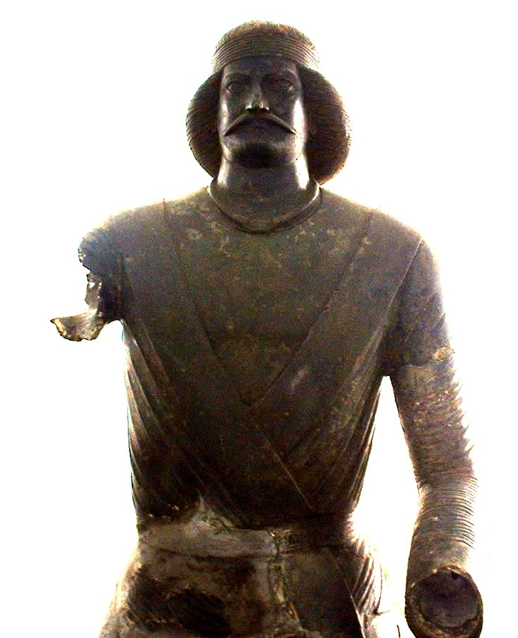 Parthian-era bronze statue possibly representing General Surena. Defeated Crassus in the Battle of Carrhae (53 BC)