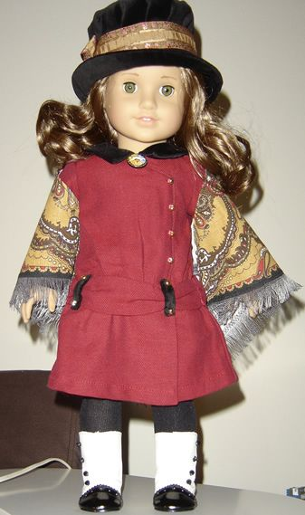 ... latest American Girl doll, Rebecca in her meet outfit and shawl (Lena