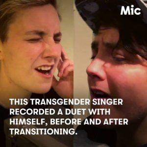 This transgender singer recorded a duet with himself before and after transitio #news #alternativenews