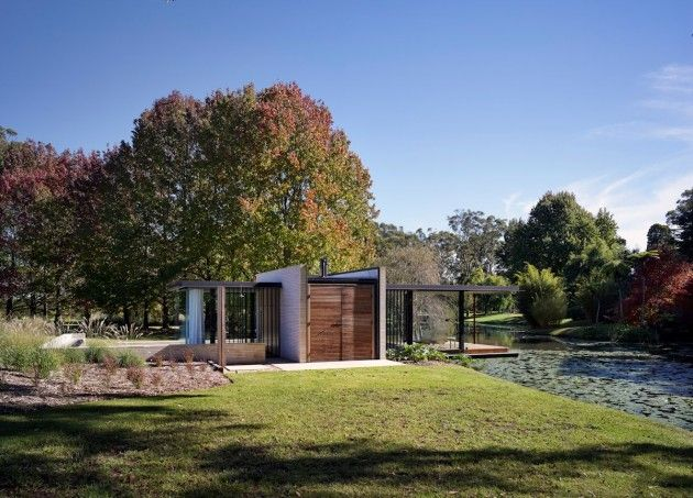 Wirra Willa Pavilion by Matthew Woodward Architecture in Somersby, Austra