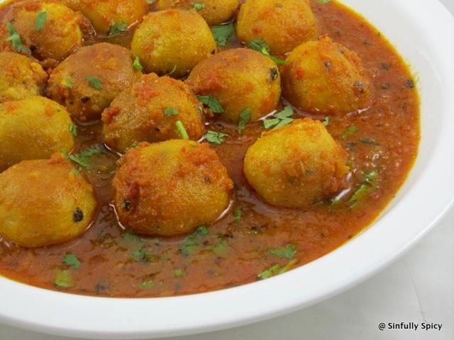 Moong Dal Ki Goli-Curried Lentil Balls