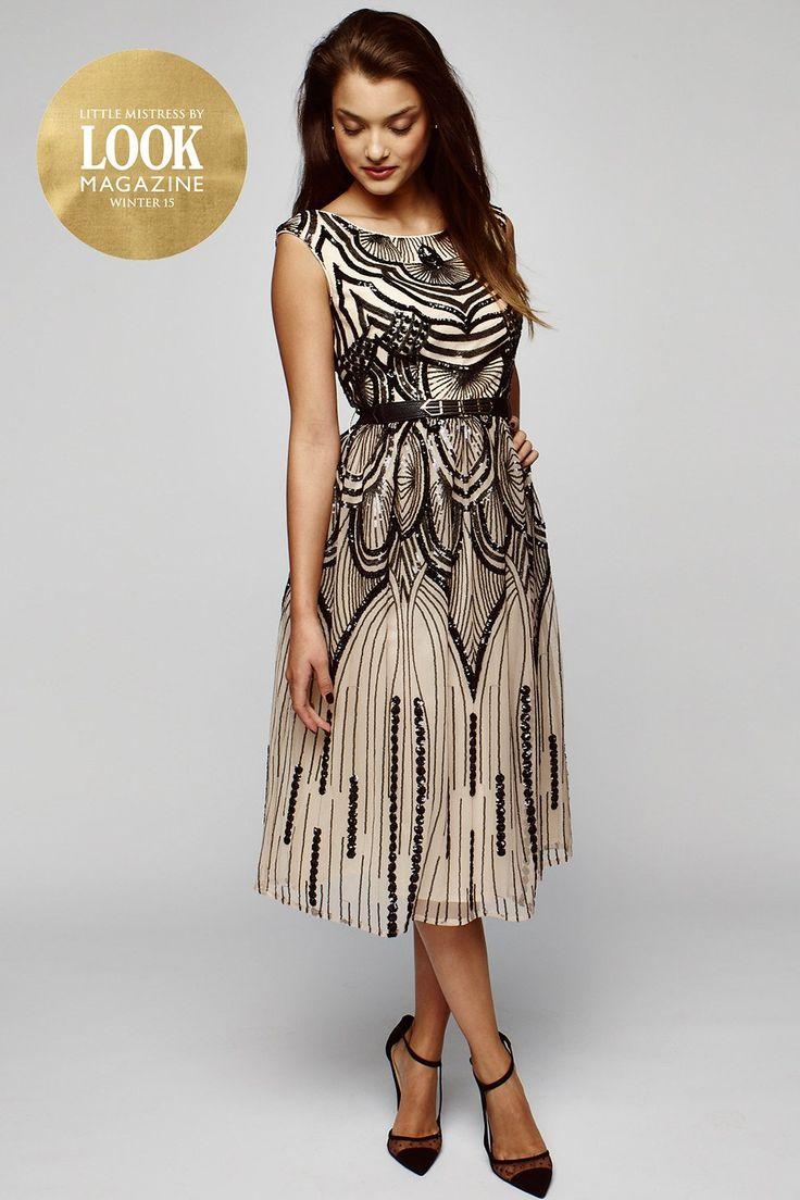 JENELLE Layered lace midi dress Black Ted Baker Dresses Outlet