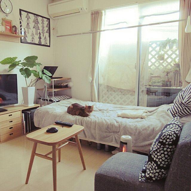 女性で、1Kの部屋全体/14㎡/ワンルーム 狭い/賃貸/一人暮らし/シンプル…などについてのインテリア実例を紹介。「引っ越し前のお部屋だけどコンテスト参加しまーす♪ 今はお部屋作り中。」(この写真は 2016-02-20 22:14:09 に共有されました)