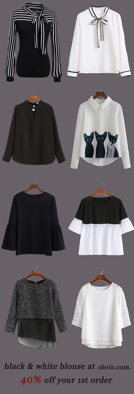 Black & white blouse collection for women. 40% off your 1st order! - Luxe Fashion New Trends