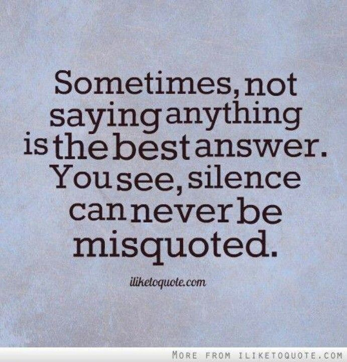 Silence Love Quote: Wise Quotes About Silence. QuotesGram