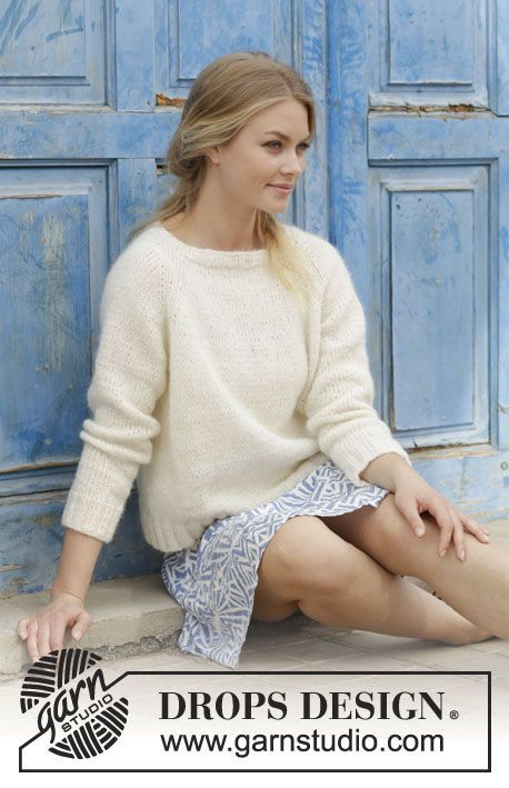 dfb946ed5fae Carly Pullover   DROPS 186-30 - Knitted jumper with raglan