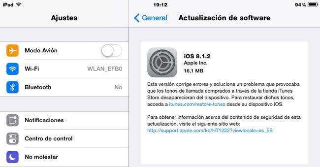 Apple libera iOS 8.1.2 para solucionar los problemas con los tonos de llamadas http://www.audienciaelectronica.net/2014/12/10/apple-libera-ios-8-1-2-para-solucionar-los-problemas-con-los-tonos-de-llamadas/