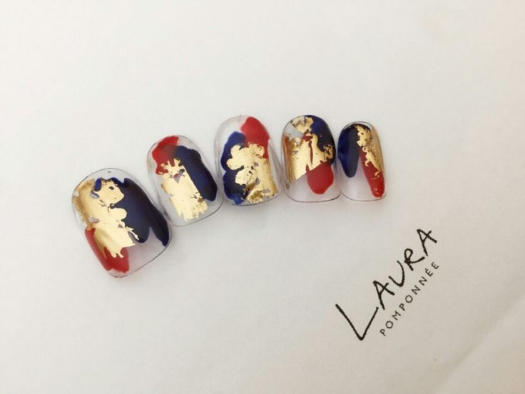 Nail.design.loud-shout-lookatmynails!.gold.black.red.