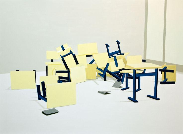 Erno Enkenberg - Barricade - 2012 - oil on canvas - 125x170cm