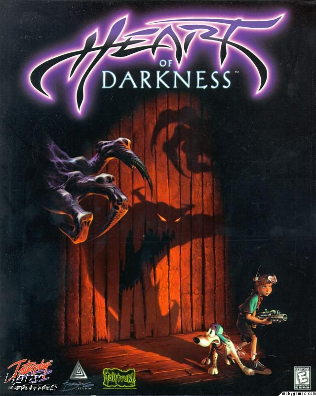 """Heart of Darkness (1998): This was a fun adventure game kind of like """"Another World"""" and has nothing to do with the book of the same title.  I always liked the animations of the shadow ghoulies.  Lots of neat things to see and do.  Click to see some gameplay!"""