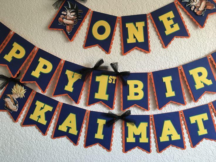 Dragon Ball Z Personalized Birthday Banner